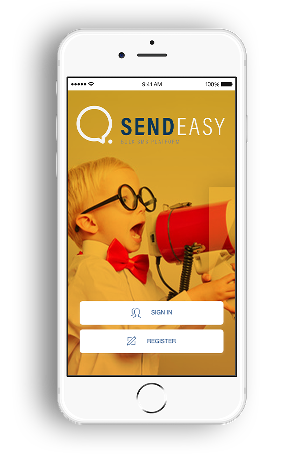 SendEasy mobile view